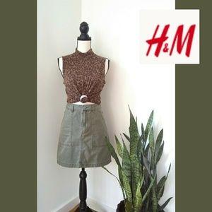 🎃H&M High-waisted Denim Skirt